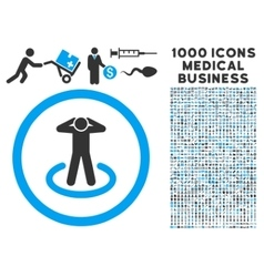 Prisoner Rounded Icon With Medical Bonus vector image