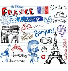 symbols of france vector image vector image