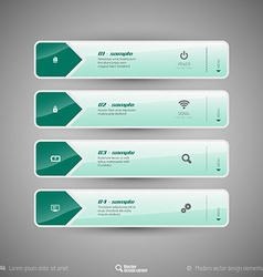 Tabs as design elements for business layouts vector