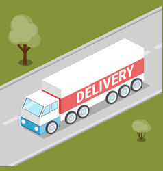 truck delivery isometric vector image vector image