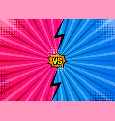 versus vs letters fight backgrounds in flat comics vector image