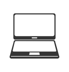 laptop digital technology isolated vector image