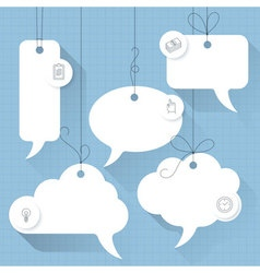 Speech bubbles template vector