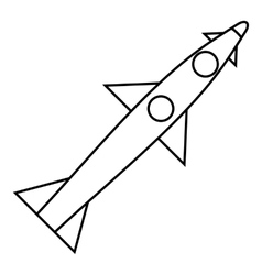 Rocket flies icon outline style vector image