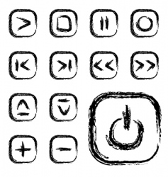 simple media icons vector image