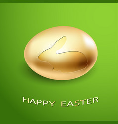 Golden rabbit egg vector