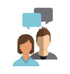 People avatars community group vector