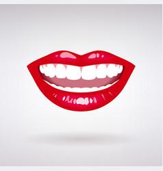 female smile vector image