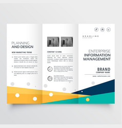 Elegant tri fold brochure design in creative vector