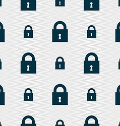 Closed lock icon sign seamless pattern with vector