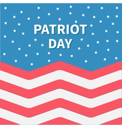 Star sky red and white strip ocean patriot day vector