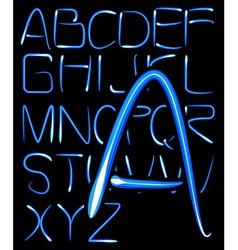 light alphabet vector image