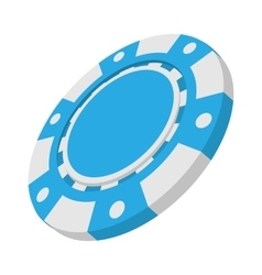 Blue casino token cartoon icon vector