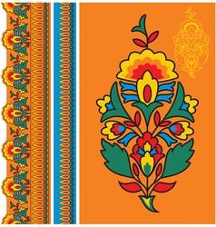 Oriental - indian - floral design elements vector