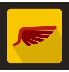Red wing icon in flat style vector