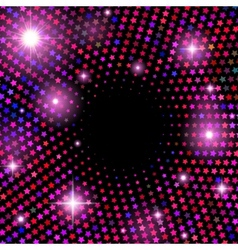 Abstract background with shiny stars vector