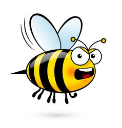 Cartoon bee vector image
