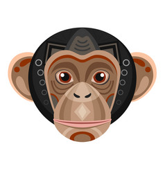 chimpanzee head logo monkey decorative vector image