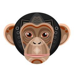 Chimpanzee head logo monkey decorative vector
