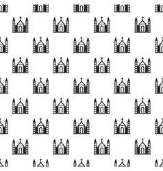 Christian catholic church building pattern vector