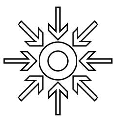 Compress arrows contour icon vector