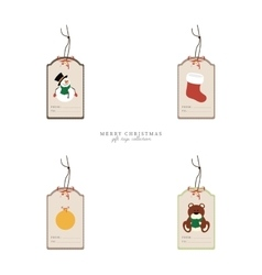 Cute christmas objects vector