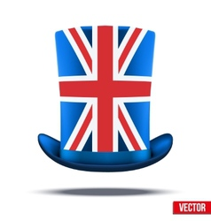 Cylinder hat with a british flag vector