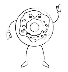 Delicious donut cartoon vector