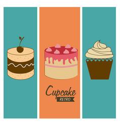 Dessert design over blue background vector