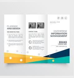 Elegant tri fold brochure design in creative vector