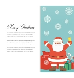 Funny Merry Christmas card Christmas characters vector image