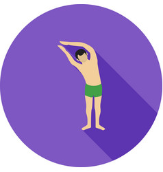 Half moon pose right vector