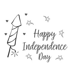 Happy independence day style collection vector