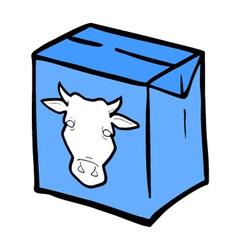 milk box vector image vector image