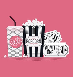 Movie item icons vector