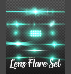 Realistic lens flare set vector