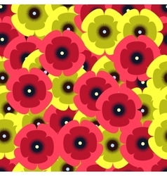 red and yellow poopies pattern vector image