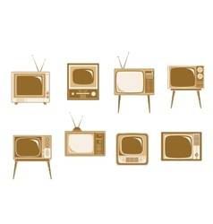 Set of retro TV vector image