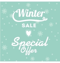 winter sale design vector image