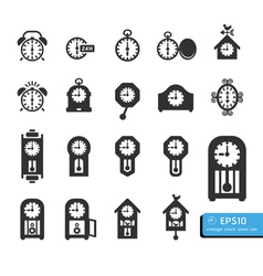 icon clock vector image