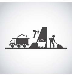 Mining industry concept icon vector
