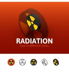 Radiation icon in different style vector