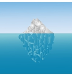 Polygonal iceberg in the sea low poly design vector