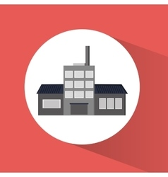 Plant factory building design vector