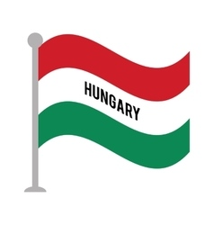 Hungary patriotic flag isolated icon vector