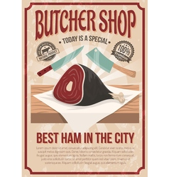 Butcher shop poster vector