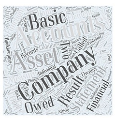Basic Accounting Principles Word Cloud Concept vector image