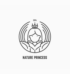 Nature princess logo vector