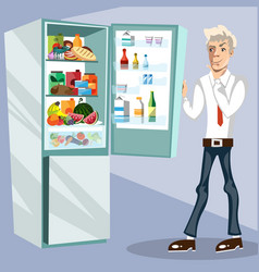 The man next to the fridge vector
