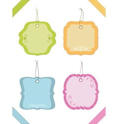 Decorative tags vector